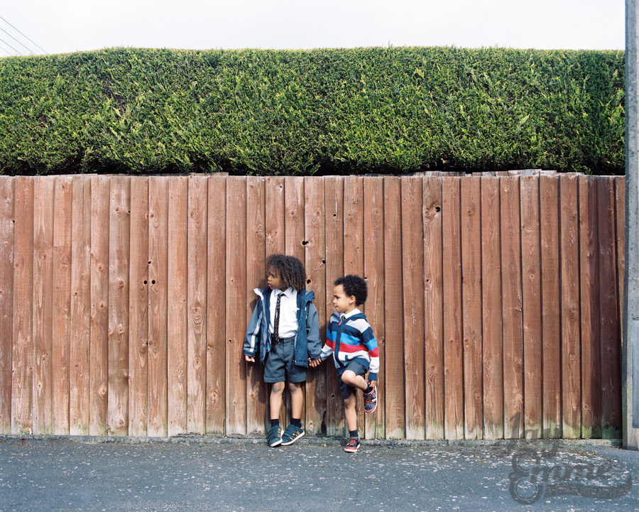 The Smalls In The Street, Mamiya RZ67, Portra 400h, May 14