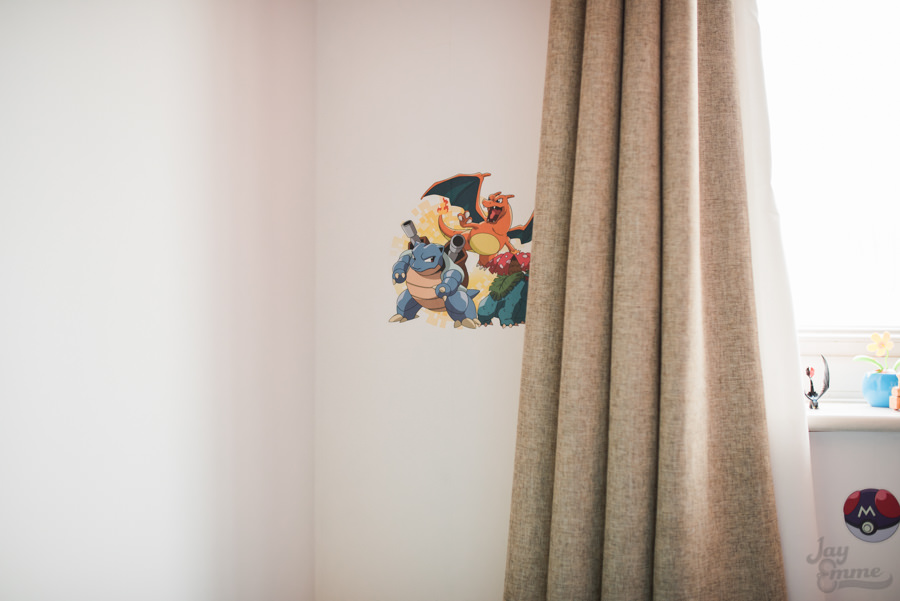 Pokemon Bedroom wall stickers, Jay Emme Photography